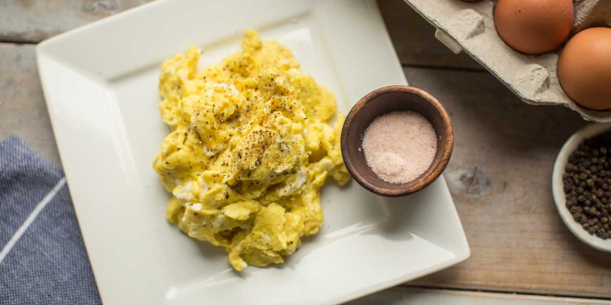 Koolhydraatarme Lunch Scrambled Eggs
