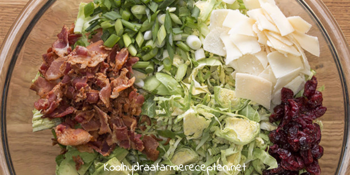 Bacon Avocado Salade Met Spruiten
